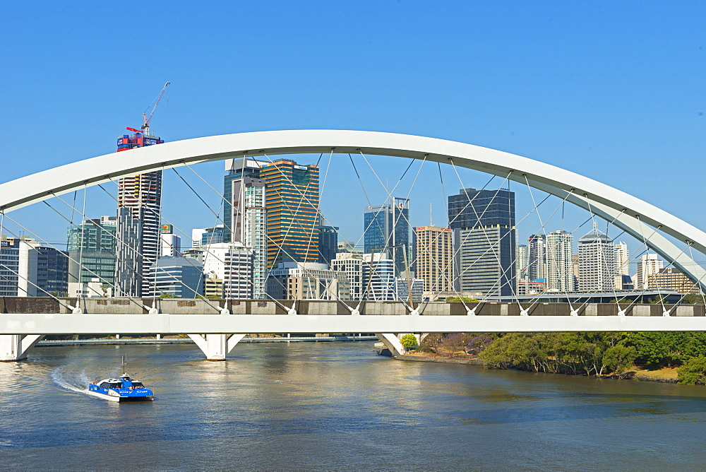 Kurilpa Bridge in Brisbane, Queensland, Australia, Pacific