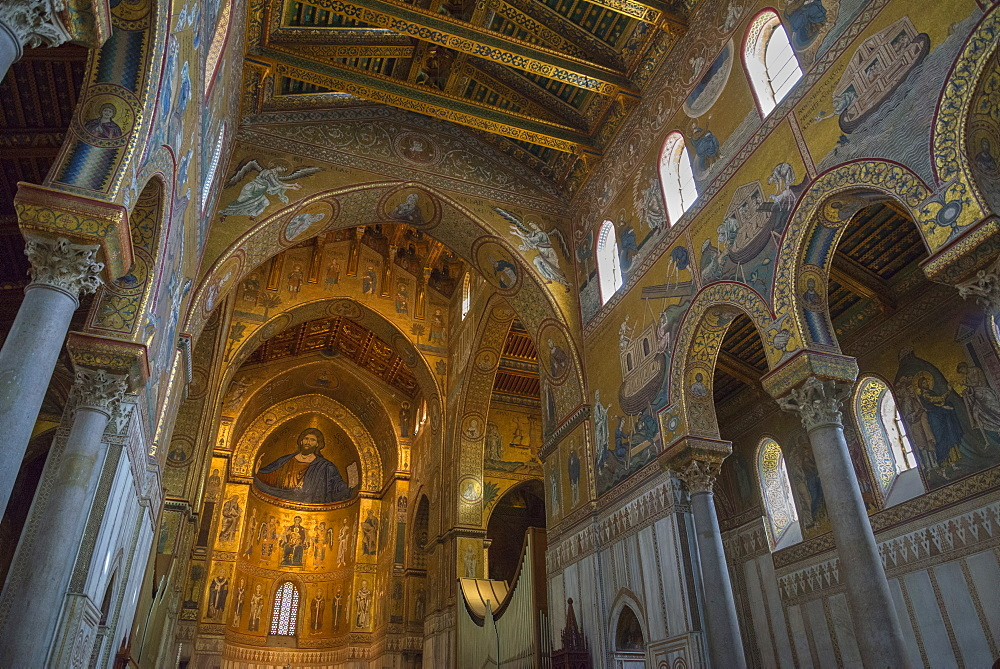Cathedral of Monreale, Monreale, Palermo, Sicily, Italy, Europe - 718-2186