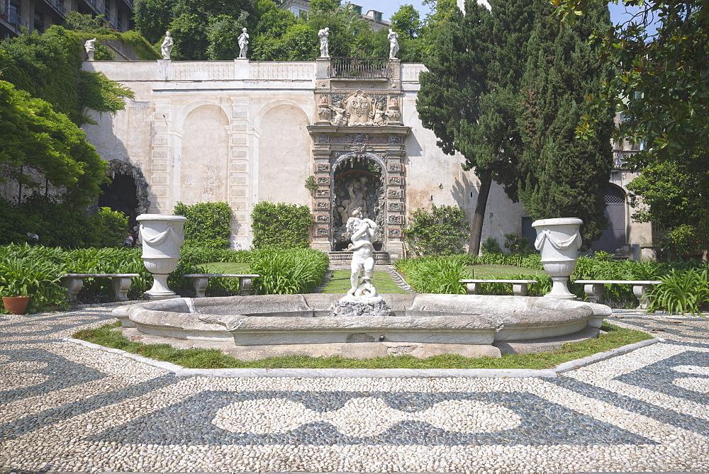 Palazzo Lomellini gardens, Genoa, Liguria, Italy, Europe, World Heritage Site,