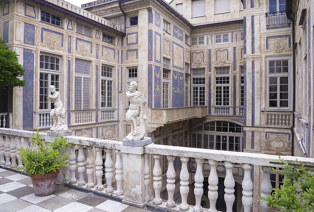 Palazzo Lomellini, Genoa, Liguria, Italy, Europe, World Heritage Site, - 718-2196