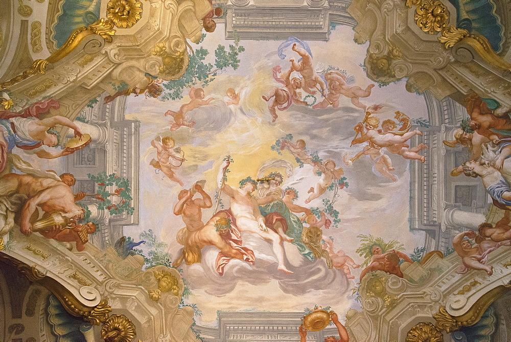 Palazzo Rosso frescoes, Genoa, Liguria, Italy, Europe, World Heritage Site - 718-2201