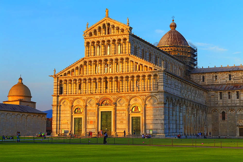 The Cathedral of Pisa, west facade, UNESCO World Heritage Site, Pisa, Tuscany, Italy, Europe - 718-2289