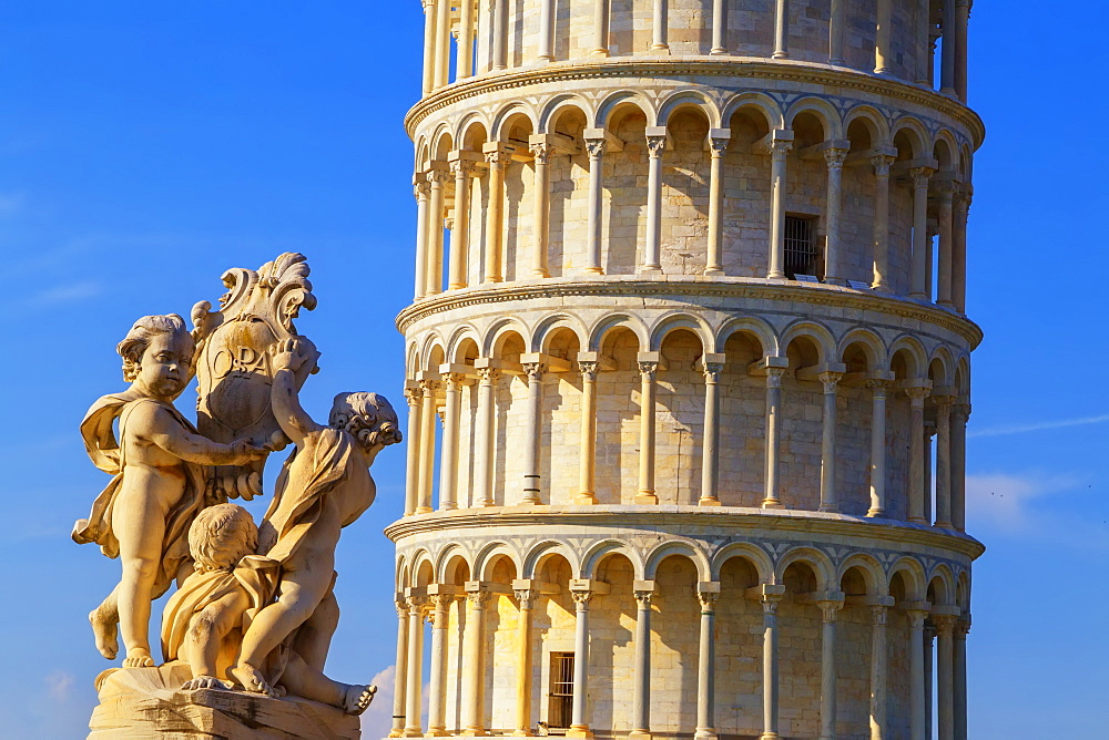 Leaning Tower, Campo dei Miracoli, UNESCO World Heritage Site, Pisa, Tuscany, Italy, Europe - 718-2299