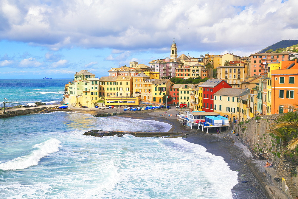 The picturesque village of Bogliasco, Bogliasco, Liguria, Italy, Europe - 718-2310