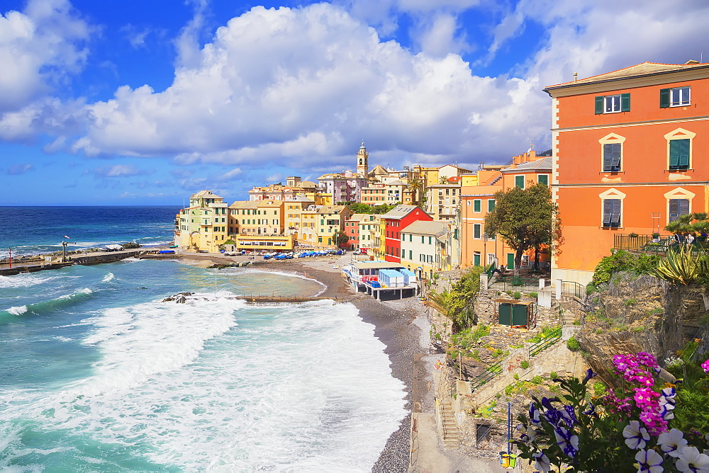 The picturesque village of Bogliasco, Bogliasco, Liguria, Italy, Europe - 718-2311