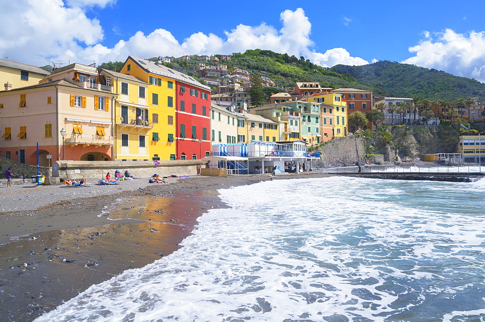 The picturesque village of Bogliasco, Bogliasco, Liguria, Italy, Europe - 718-2314