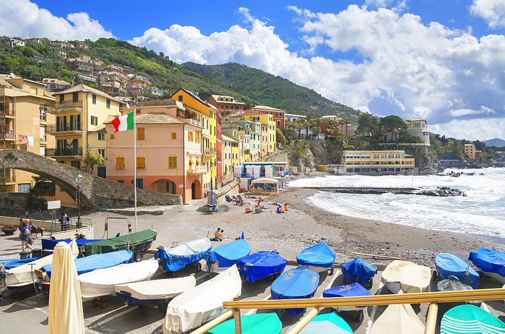 The picturesque village of Bogliasco, Bogliasco, Liguria, Italy, Europe - 718-2315