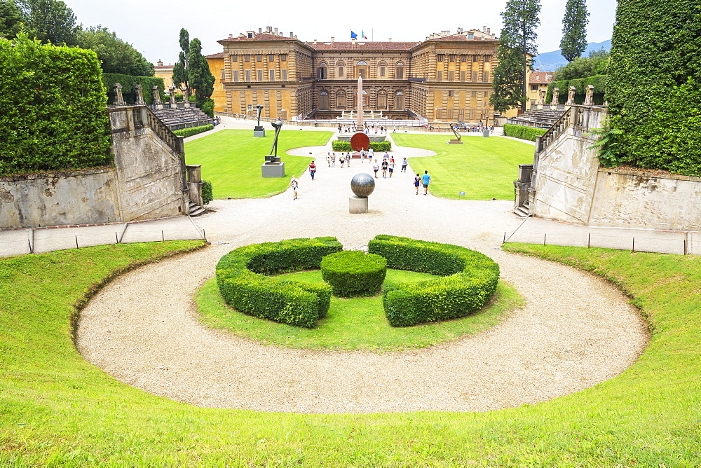 Pitti palace and garden, Florence, Tuscany, Italy, Europe