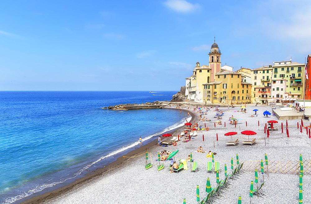 Marina harbour, Camogli, Riviera di Levante, Liguria, Italy, Europe - 718-2351