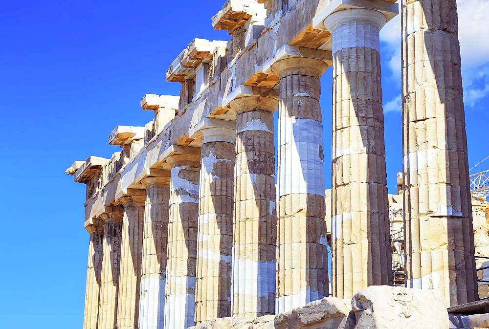 Parthenon temple on the Acropolis of Athens, UNESCO World Heritage Site, Athens, Greece, Europe