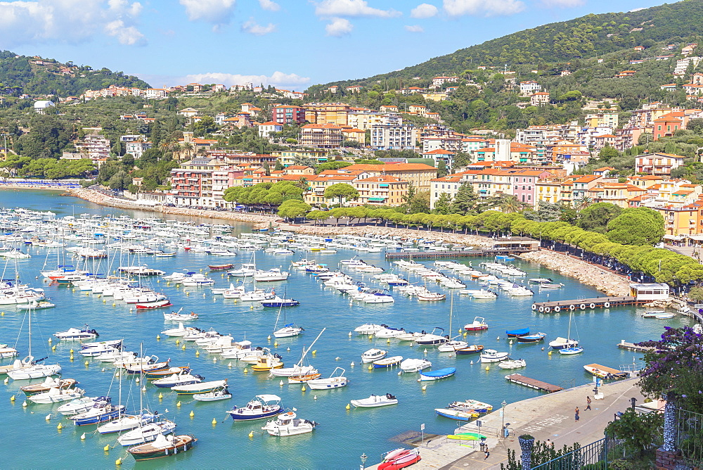 Marina harbour, Lerici, La Spezia district, Liguria, Italy, Europe