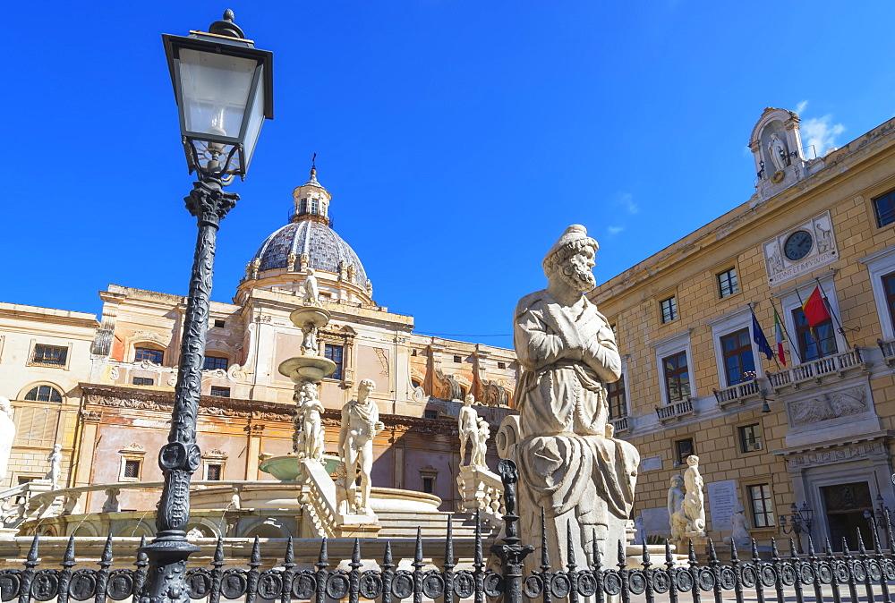 Piazza Pretoria, Palermo, Sicily, Italy, Europe - 718-2426