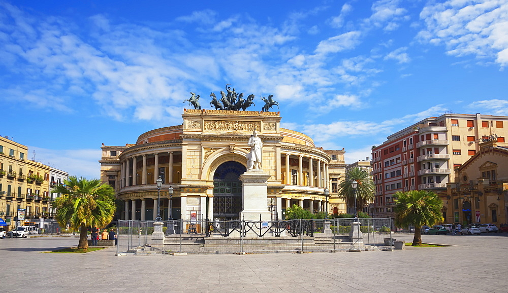 Politeama Theater, Palermo, Sicily, Italy, Europe - 718-2434