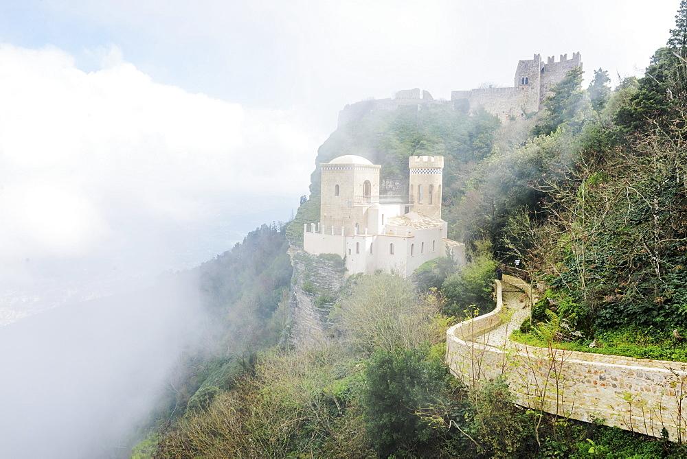 Venus Castle, Erice, Sicily, Italy, Europe - 718-2439