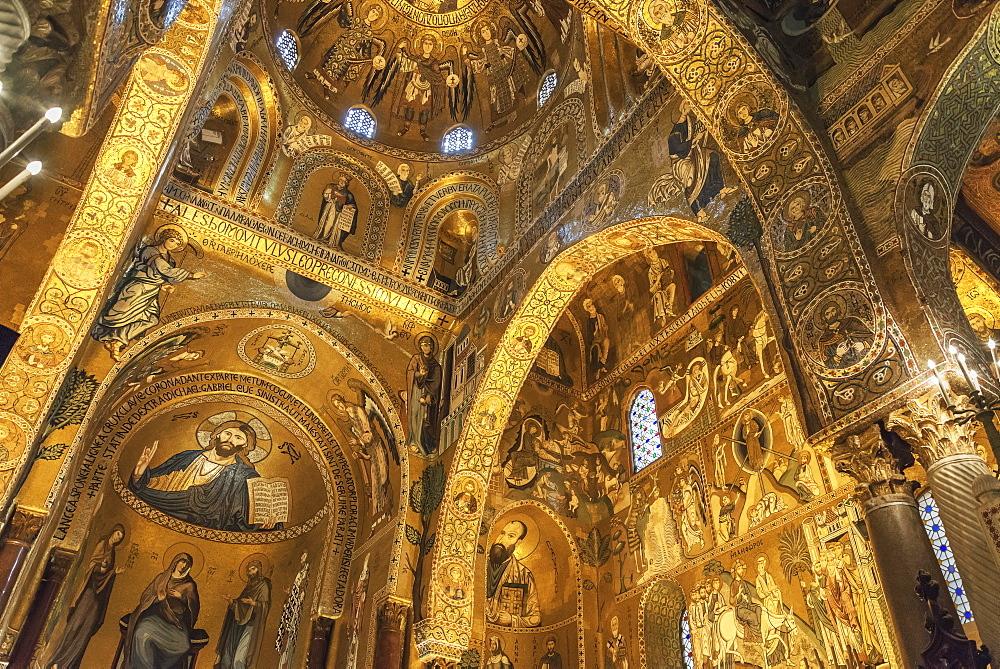 Capella Palatina, Palermo, Sicily, Italy, Europe - 718-2441