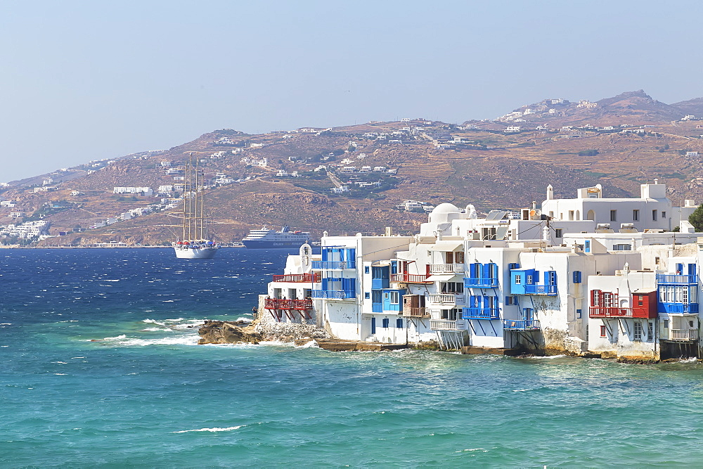 Little Venice, Mykonos Town, Mykonos, Cyclades Islands, Greek Islands, Greece, Europe