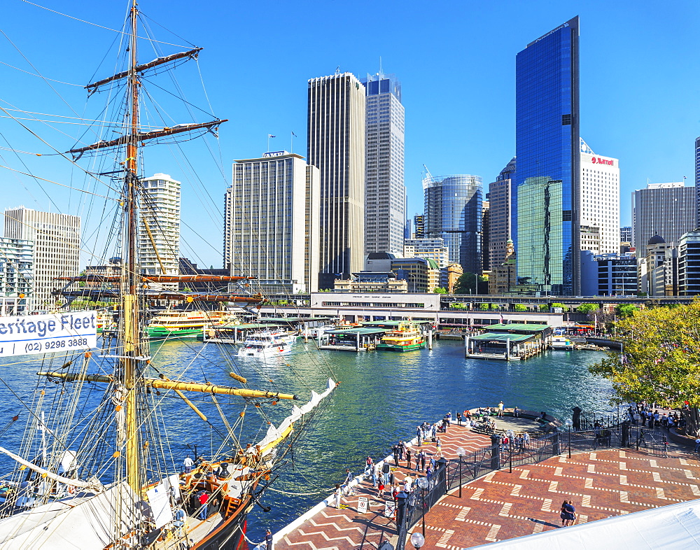 View of Circular Quay and Central Business District, Sydney, New South Wales, Australia, Pacific