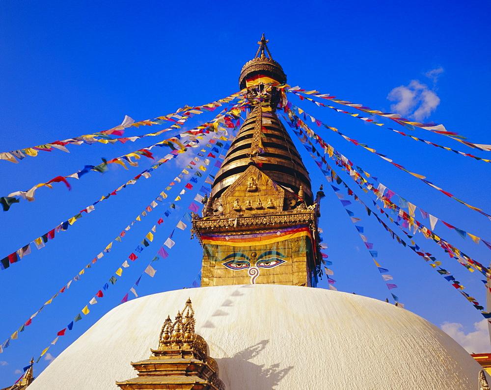 Buddhist stupa at Swayambhunath, Katmandu, Nepal