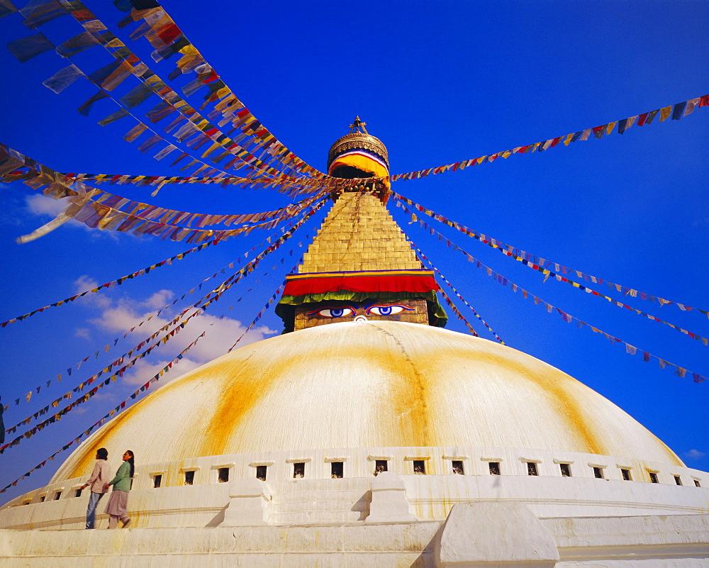 Buddist stupa, Bodnath, Kathmandu, Nepal, Asia - 718-403