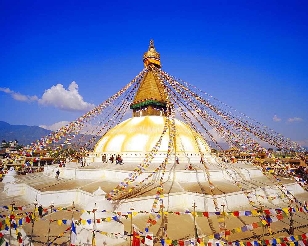 Buddhist Stupa, Bodnath, Katmandu, Nepal *** Local Caption ***