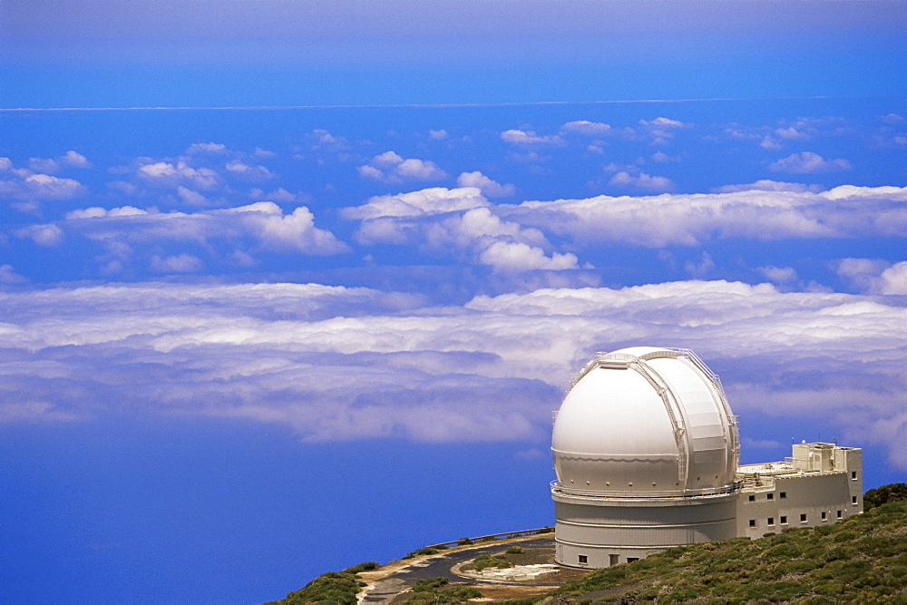 Astrophysic observatory situated near Roque de los Muchachos, La Palma, Canary Islands, Spain, Atlantic, Europe - 718-949