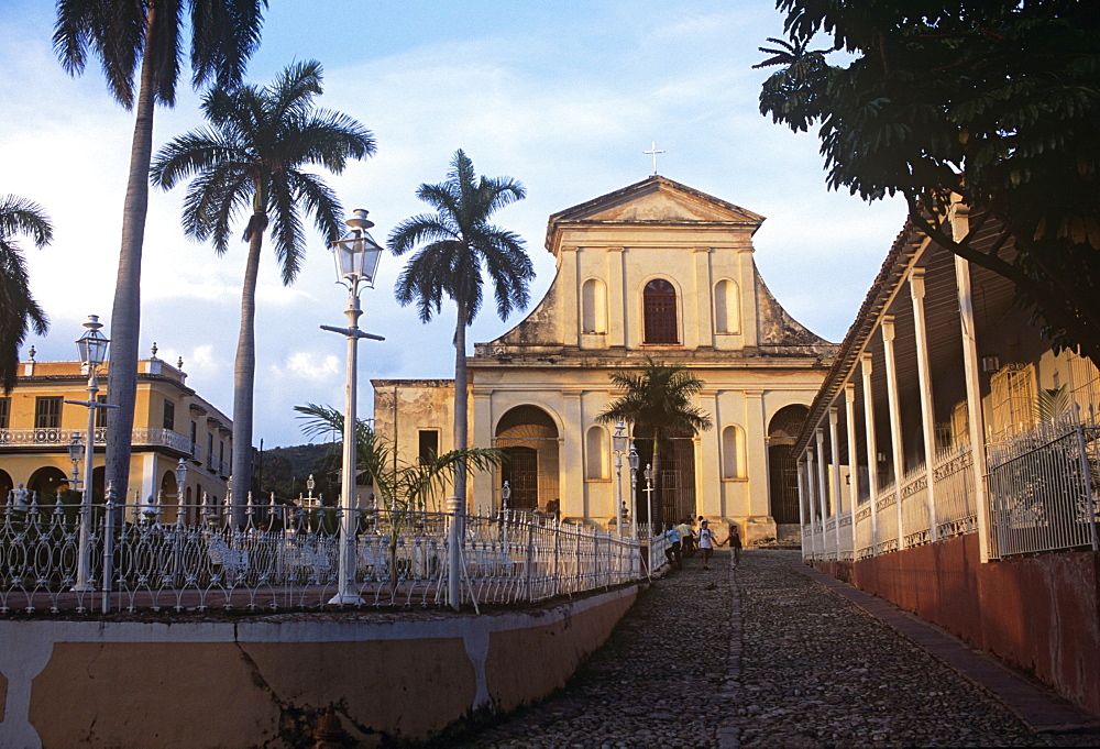 The Parroquial Mayor church of the Santisima Trinidad in Plaza Mayor, Trinidad, Sancti Spiritus, Cuba, West Indies, Central America - 722-116