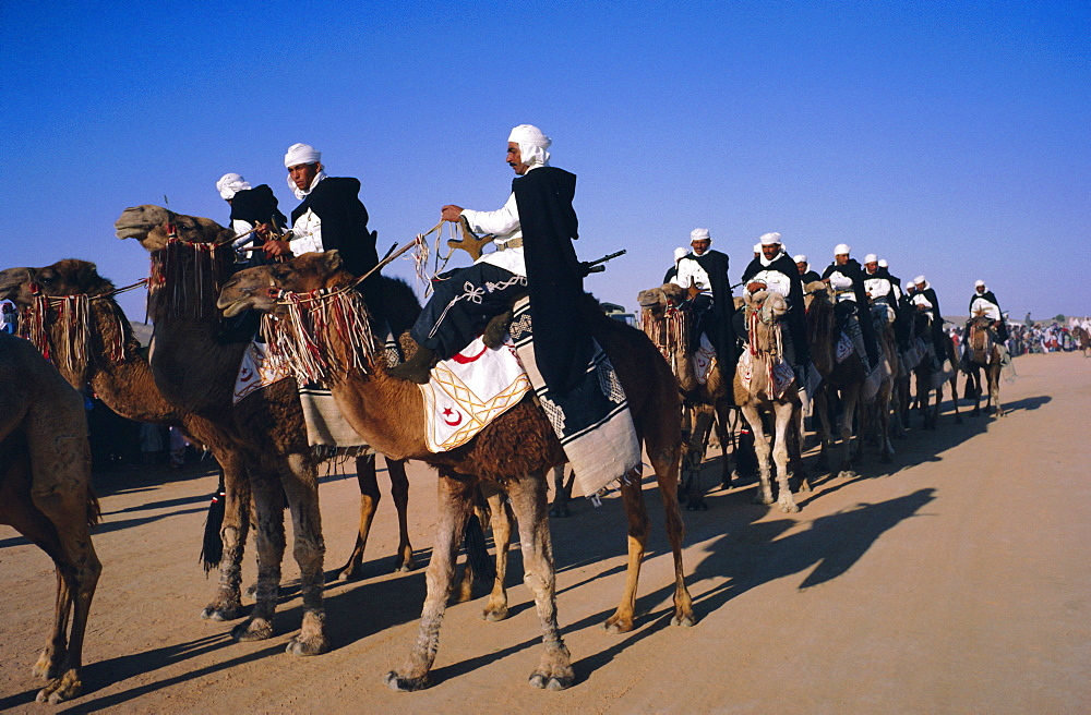 Meharistes (camel riders) Tataouine Oasis, Tunisia, North Africa