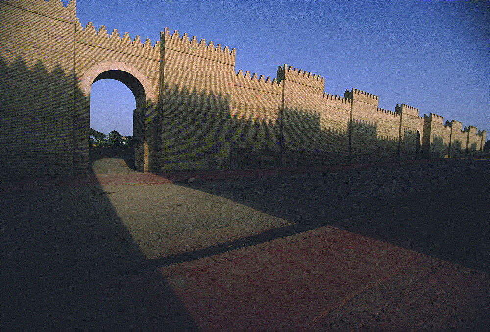 Processional way, archaeological site of Babylon, Iraq, Middle East
