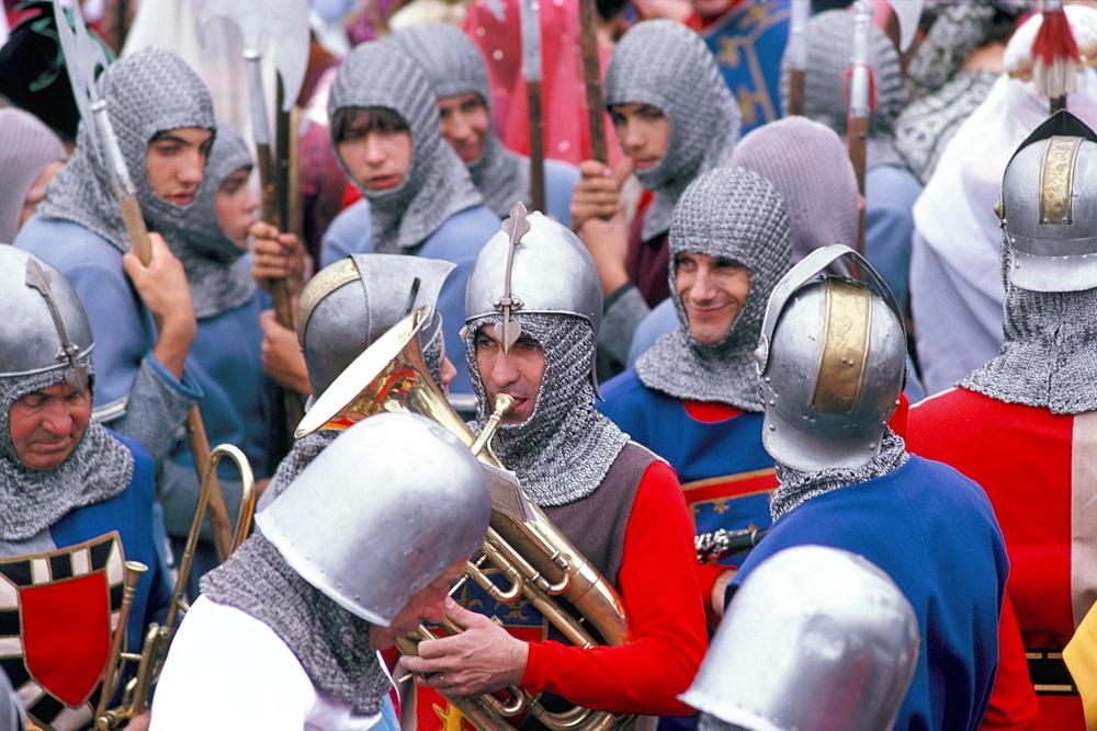 Middle Ages festival held on 7th August, Port de La Flotte, Ile de Re, Charente Maritime, France, Europe