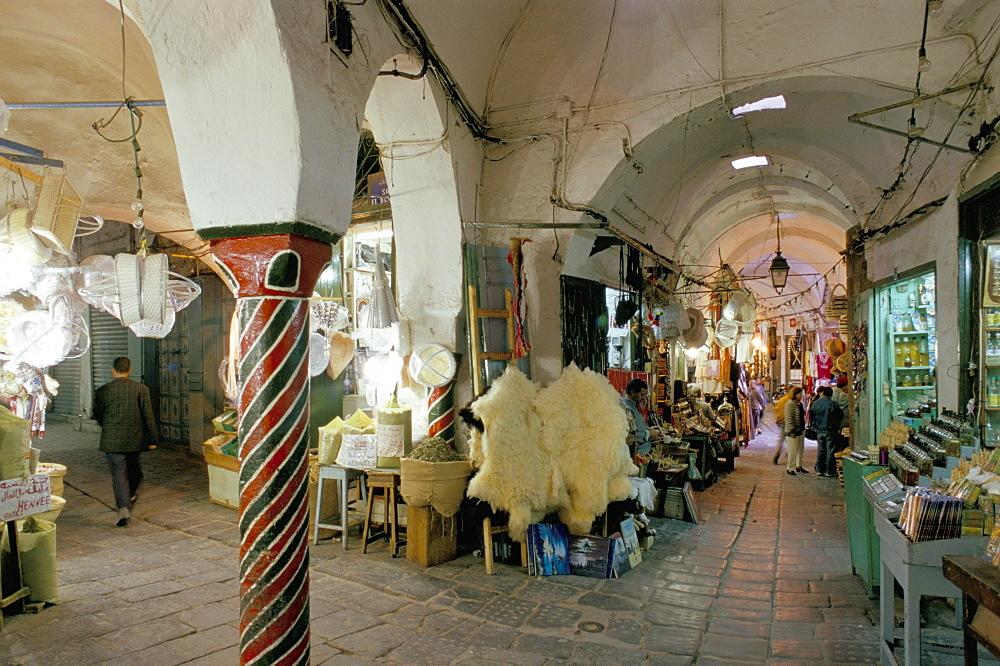 Souks in the Medina, Tunis, Tunisia, North Africa, Africa
