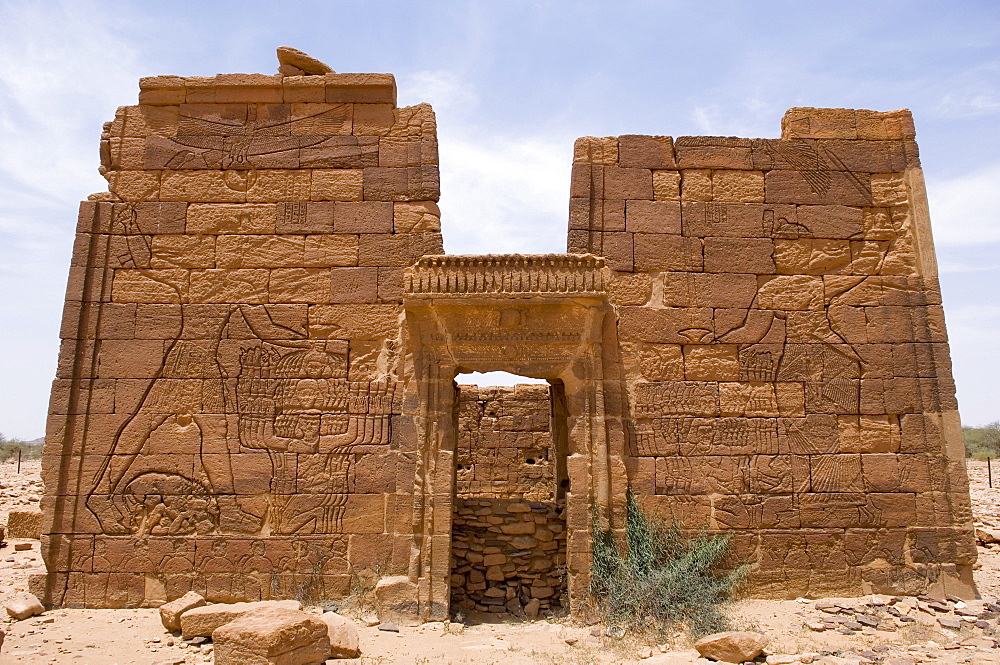 Temple of Apademak (the lion-god), erected in the 1st century AD by King Natekamani, Old Temple of Naga, The Kingdom of Meroe, Sudan, Africa
