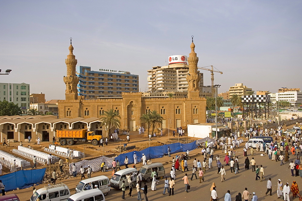 Great Mosque area, Khartoum, Sudan, Africa