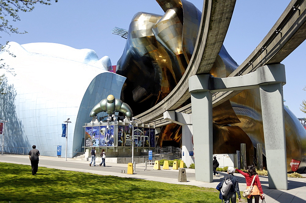 Experience Music Project, the world's only hands-on music museum, Seattle, Washington State, United States of America, North America