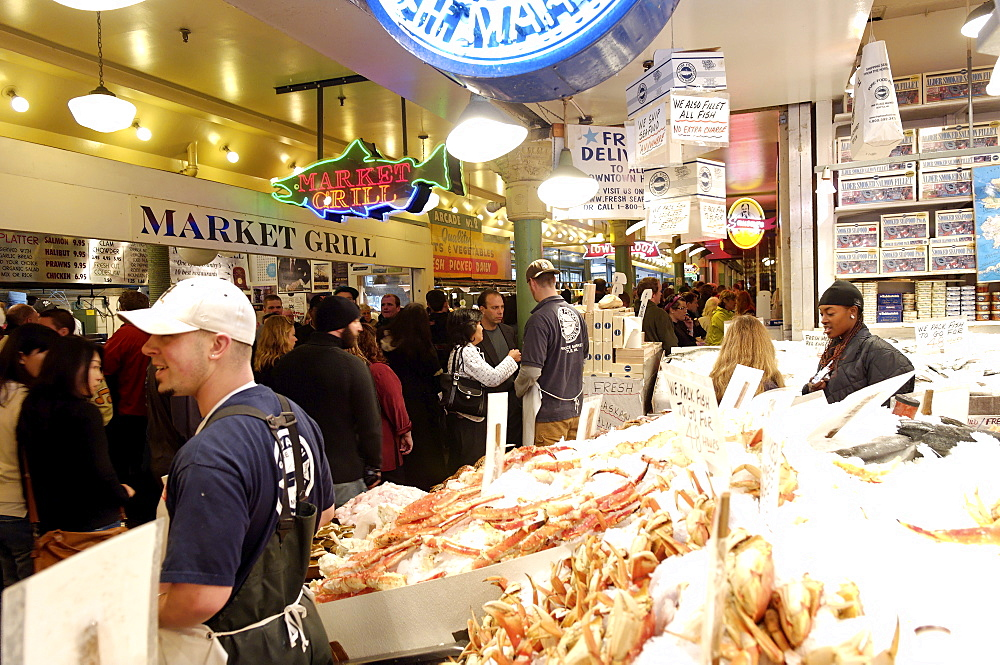 Pike Market, Seattle, Washington State, United States of America, North America