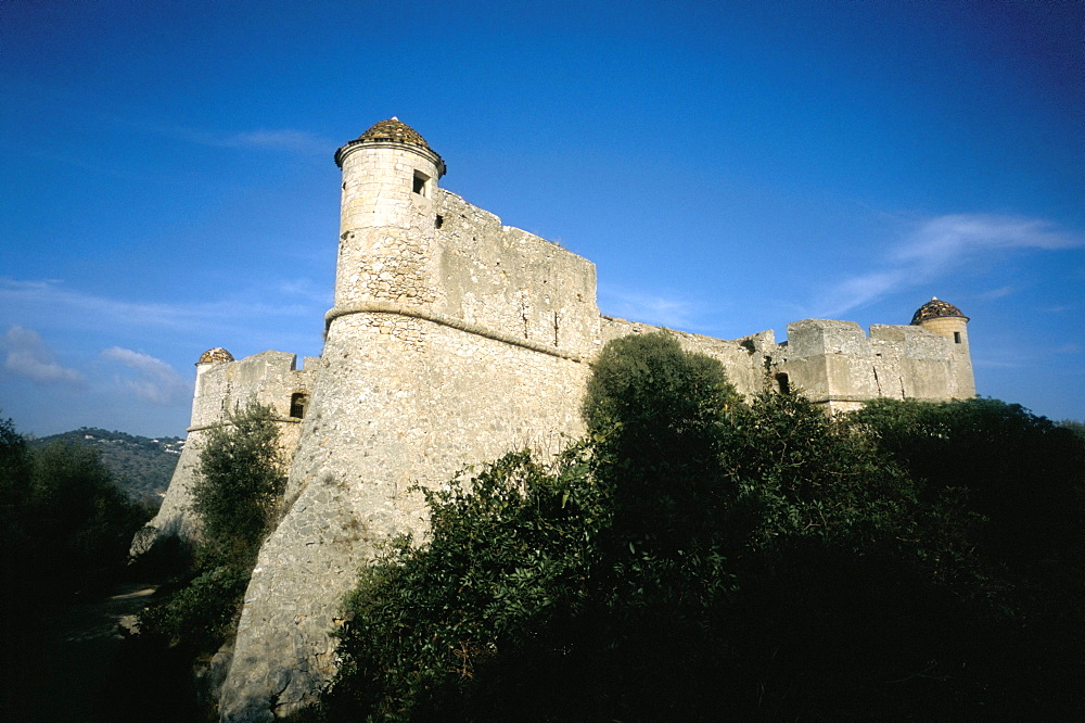 Fort dating from the 16th century, Mont Alban, near Nice, Alpes-Maritimes, Provence, France, Europe