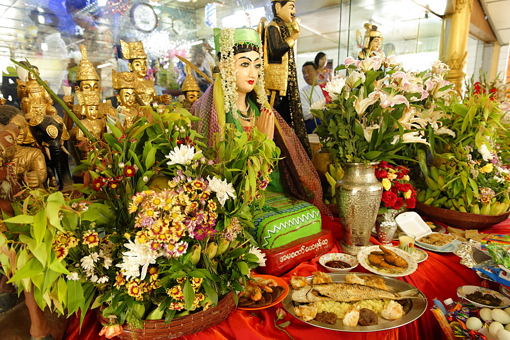 Nats altar during Festival of Ko Myo Shin, Pyin U Lwin (Maymyo), Mandalay Division, Republic of the Union of Myanmar (Burma), Asia
