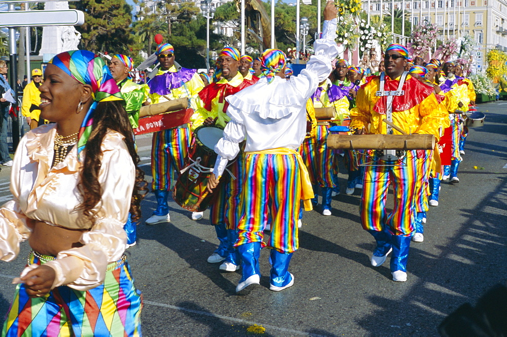 The Battle of the Flowers festival, Nice, Cote d'Azur, Provence, France