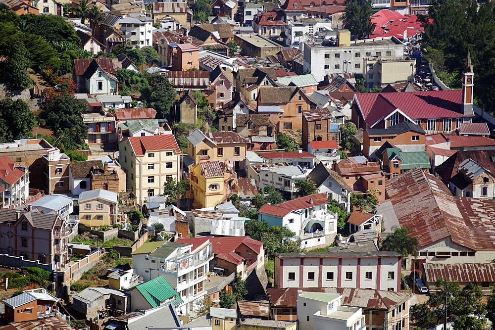 View from the upper city, Antananarivo city, Tananarive, Madagascar, Africa