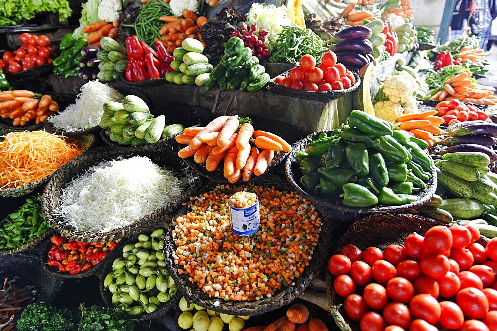Vegetables in the market, Antsirabe, Vakinankaratra region, Madagascar, Africa