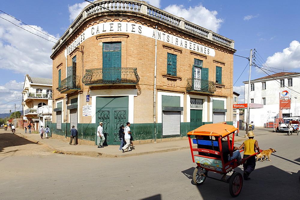Rickshaw, Antsirabe, Vakinankaratra region, Madagascar, Africa  - 724-2443