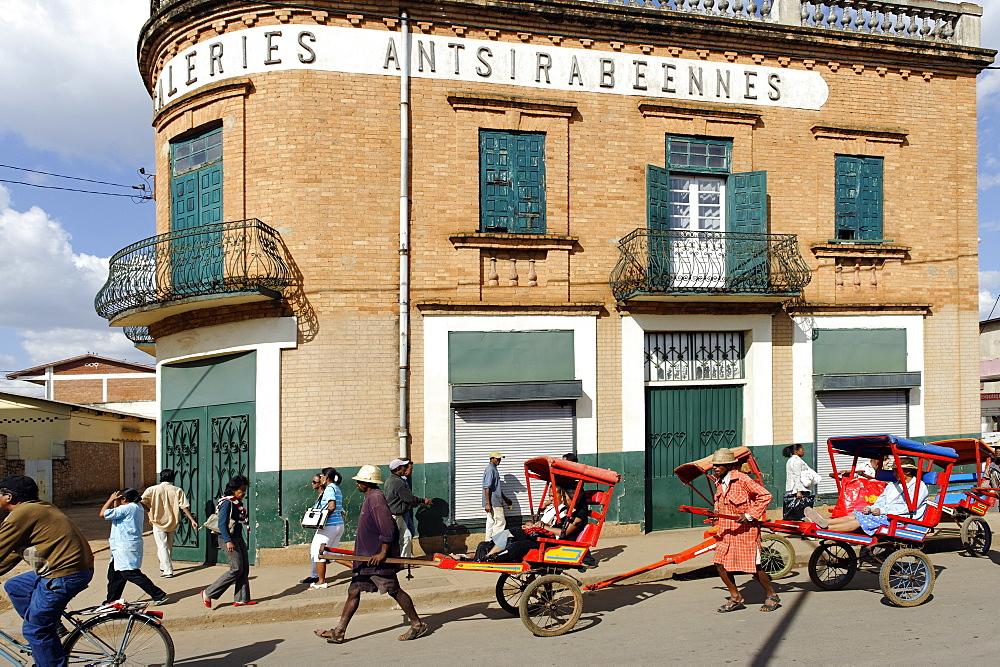 Rickshaws, Antsirabe, Vakinankaratra region, Madagascar, Africa  - 724-2444