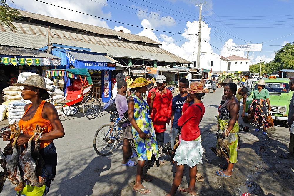 The market, Toliara (Tulear), capital of the Atsimo-Andrefana region, Madagascar, Africa  - 724-2456
