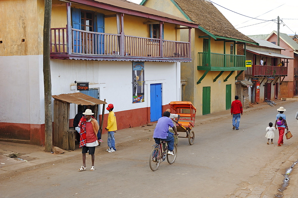 The main street, Ambalavao, southern part of the Central Highlands, Madagascar, Africa  - 724-2460