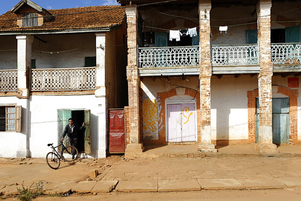 The main street, Ambalavao, southern part of the Central Highlands, Madagascar, Africa  - 724-2462