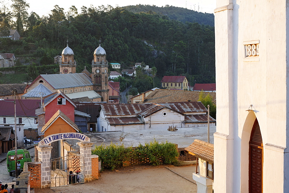 The Upper Town founded under the reign of Queen Ranavalona I to be the capital of southern province, Fianarantsoa city, Madagascar, Africa  - 724-2466