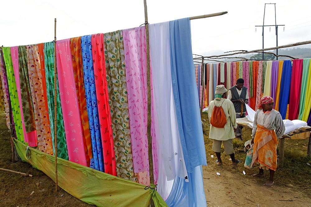 Friday market in the Betsileo country, around Fianarantsoa, Madagascar, Africa  - 724-2467