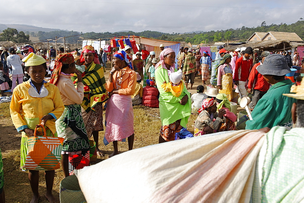 Friday market in the Betsileo country, around Fianarantsoa, Madagascar, Africa  - 724-2470