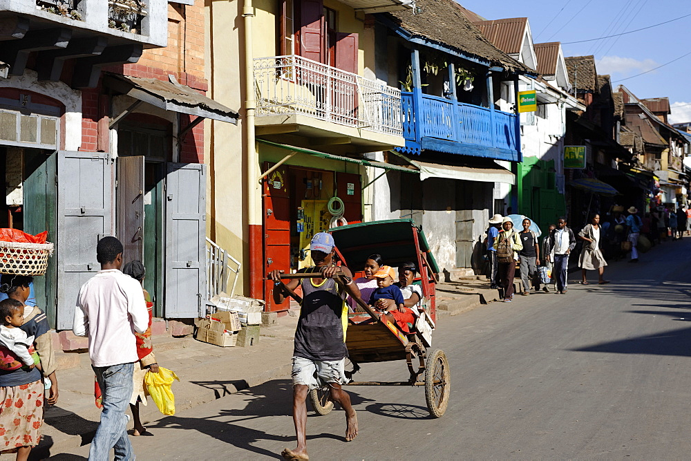 Ambositra, capital of the Amoroni Mania region, and of Ambositra District, Madagascar, Africa  - 724-2473