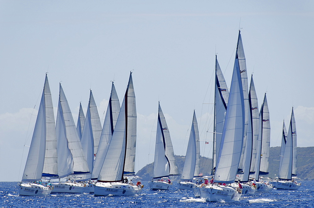 Sailboat regattas. British Virgin Islands, West Indies, Caribbean, Central America - 724-2478