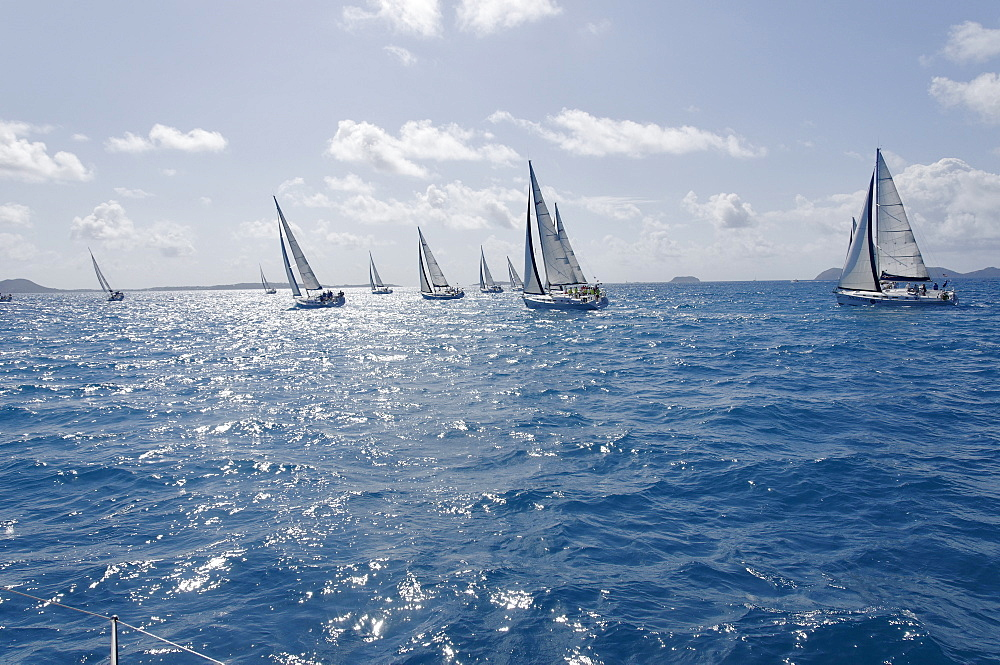 Sailboat regattas. British Virgin Islands, West Indies, Caribbean, Central America - 724-2484